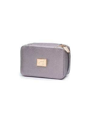 DELUXED MIRRORED COSMETIC BAG
